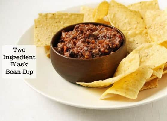 2 Ingredient Black Bean Dip | GlutenFreeBaking.com