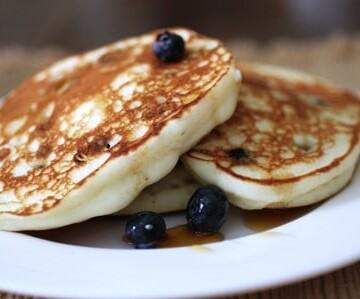 Gluten-Free Blueberry Ricotta Pancakes.