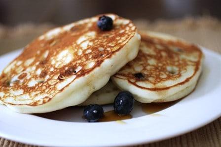 Gluten-Free Blueberry Ricotta Pancakes | GlutenFreeBaking.com
