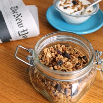 Gluten-Free Granola in small canister.