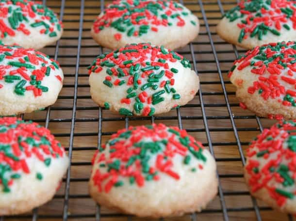 Gluten-Free Holiday Butter Cookies with Sprinkles | GlutenFreeBaking.com
