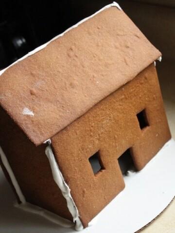 Gluten-free gingerbread house.