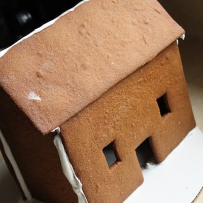 Gluten-free gingerbread house.
