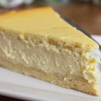 Ricotta Cheesecake.
