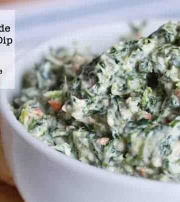Homemade Gluten-free Spinach Dip.