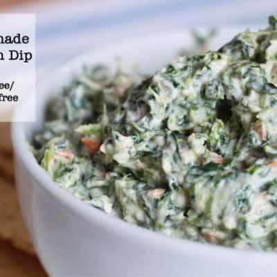 Homemade Spinach Dip Gluten-Free