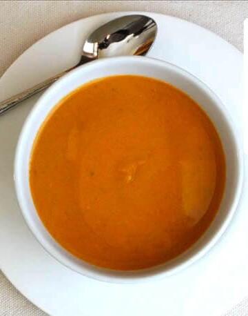 Paleo Sweet Potato Soup in a bowl.