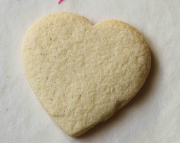Gluten-free sugar cookie heart.