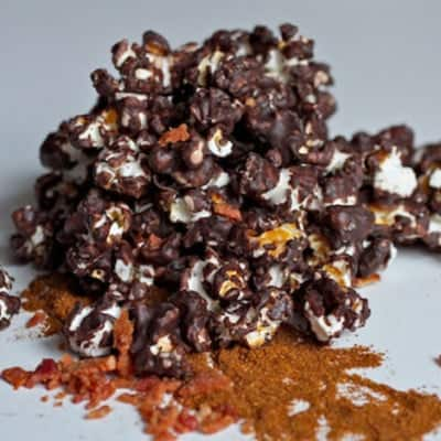 Chocolate Chipotle Popcorn