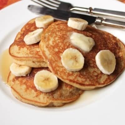 Gluten-Free Banana Pancakes on a plate.