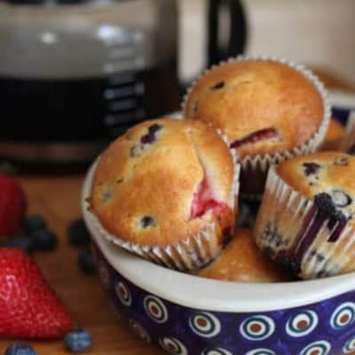 Gluten-Free Berry Muffins.