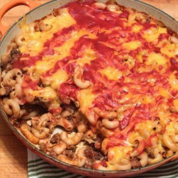 Gluten-Free Goulash in pan.