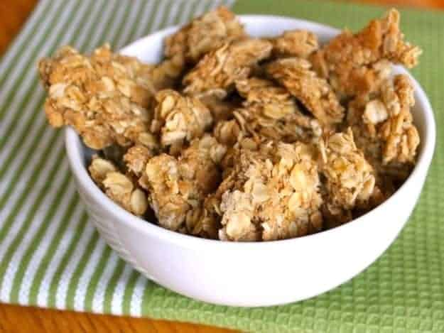 Crunchy Granola Clusters. Like Nature Valley, only 1000x better.