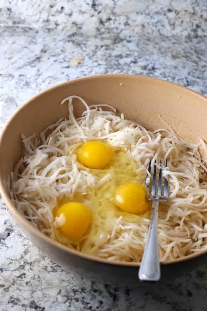 How to Make Gluten-Free Latkes: Adding the Eggs