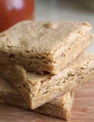 Gluten-Free Maple Blondies in a stack.