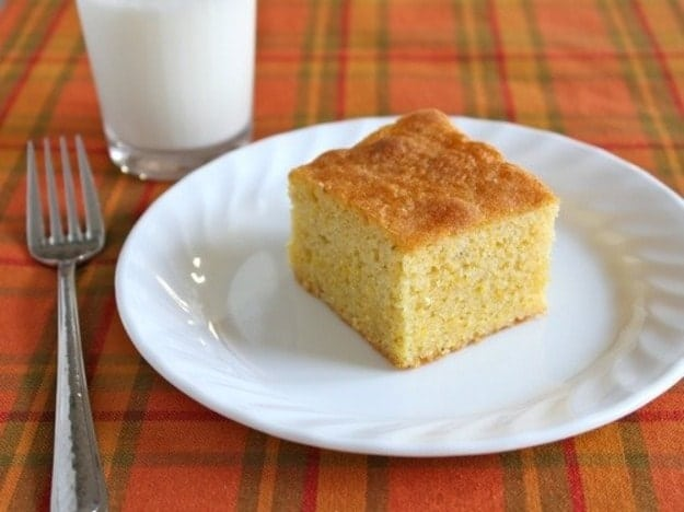 Gluten-Free Maple Cornbread | This sweet cornbread makes a wonderful dessert. It's sweet and cake-like but, happily, not too sweet.