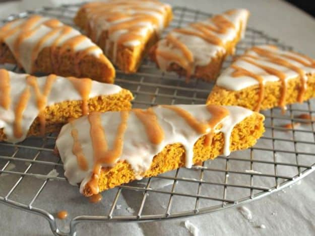 Gluten-Free Pumpkin Scones on a cooling rack.