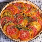 Gluten-Free Tomato Tart with Parmesan-Rosemary Crust