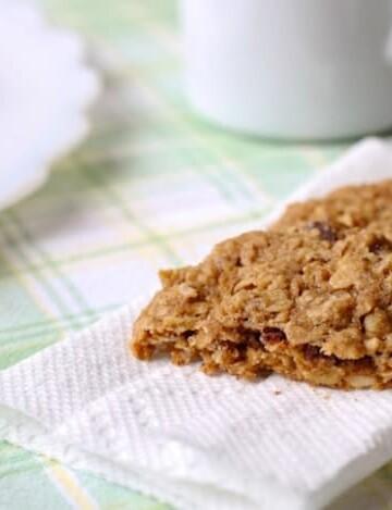 Gluten-Free Whole-Grain Oatmeal Cookies on a paper towel.