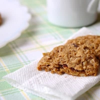 Gluten-Free Whole-Grain Oatmeal Cookies on a paper towel.
