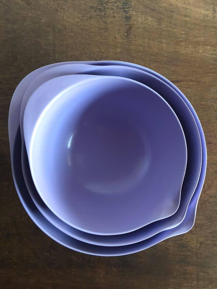 Purple Mixing Bowls.