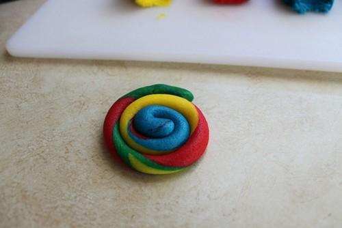 Gluten-free tie dye cookie dough.