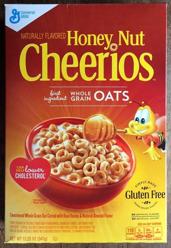Honey Nut Cheerios box.