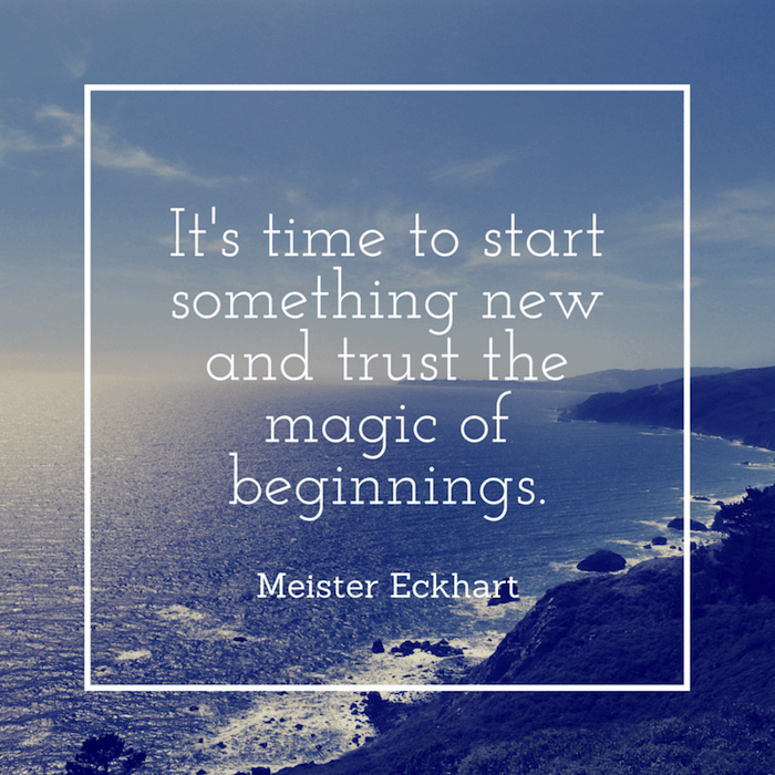 It's time to start something new and trust