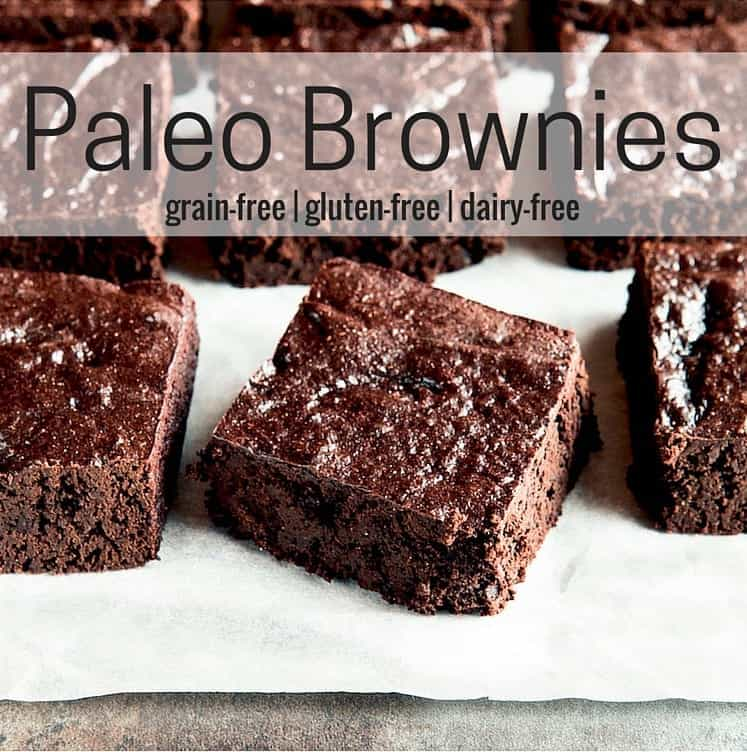 Paleo Brownies with Text