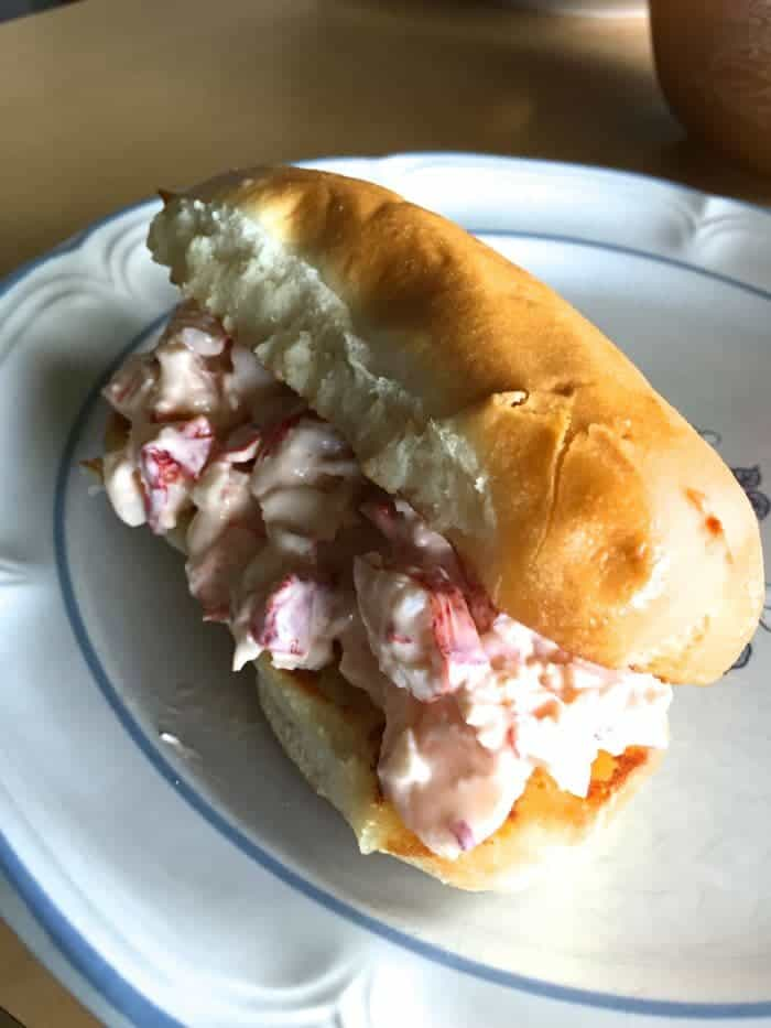 Gluten-free Lobster roll.