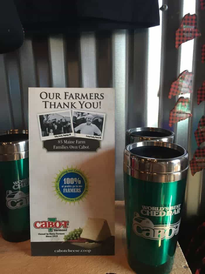 Our Farmers Thanks You! Sign at Cabot cheese store.