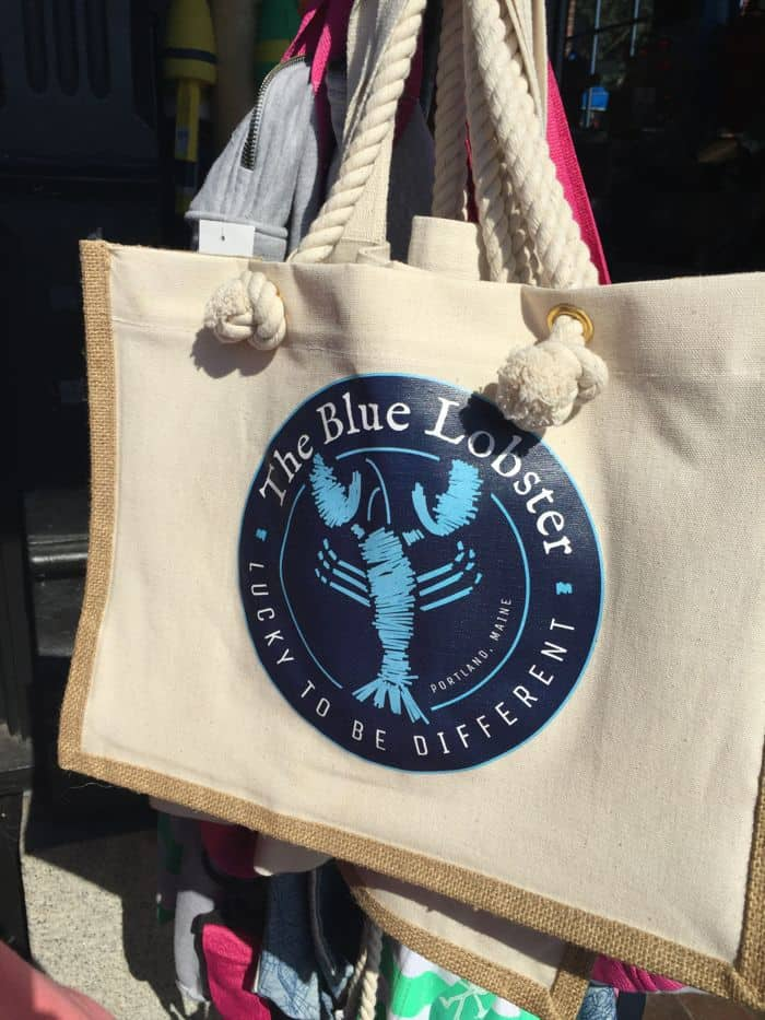 The Blue Lobster canvas bag.