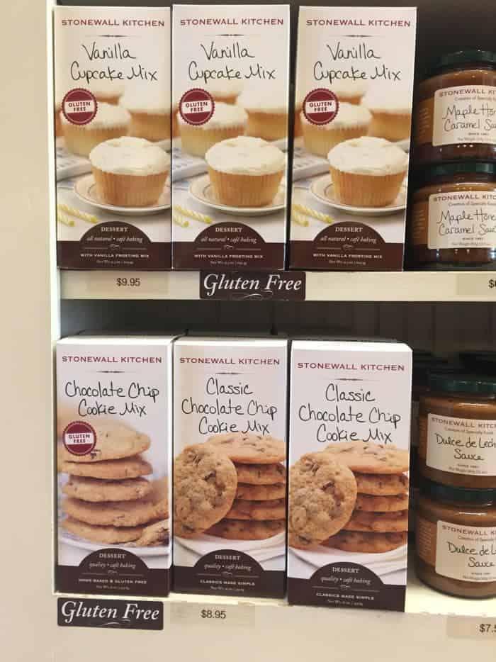 Stonewall Kitchen gluten-free baking mixes.
