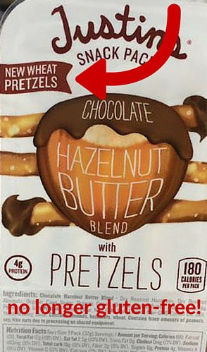 Justin's Pretzels No Longer Gluten-Free