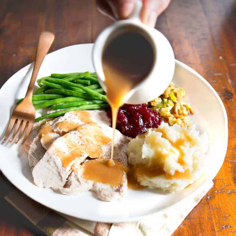Gluten-Free Gravy is so easy to make! And a must for Thanksgiving and other holidays!
