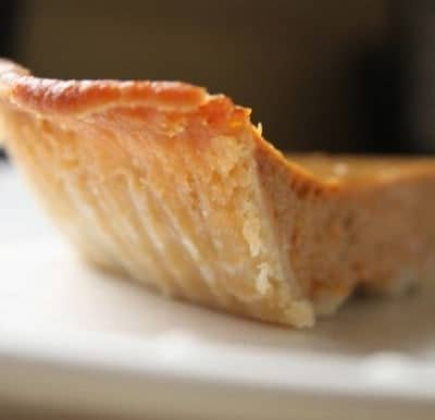Slice of gluten-free pie.