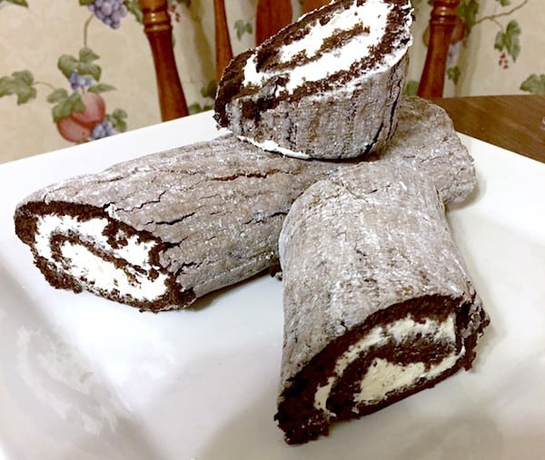 Uniced Gluten-Free Yule Log