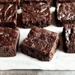 Paleo Brownies are thick and fudgy! No one will guess they are grain and dairy-free!