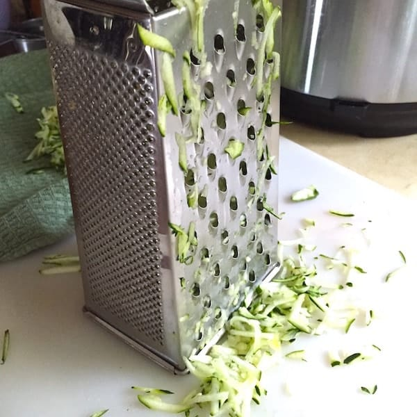 Box grated covered with zucchini.