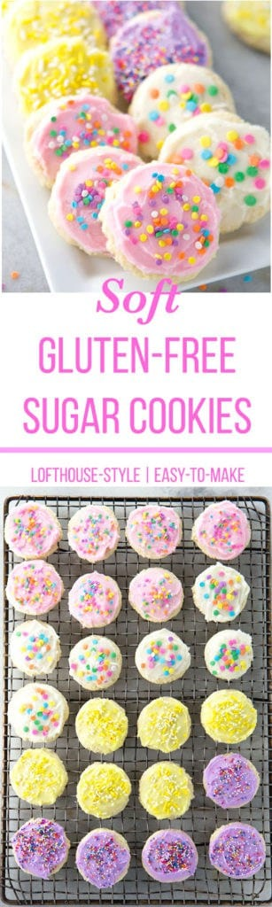 Gluten-Free Soft Sugar Cookies | Lofthouse copycat recipe | Easy-to-make | Cookies are made with sour cream and finished with frosting