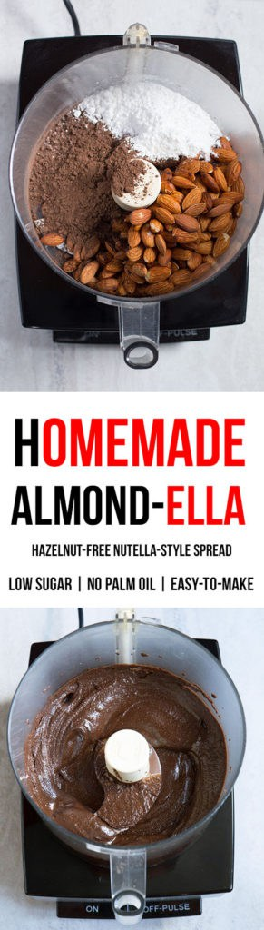 Chocolate Almond Butter   It's Easy to Make Homemade Nutella Without Hazelnuts!   Recipe is Low Sugar and Gluten-Free
