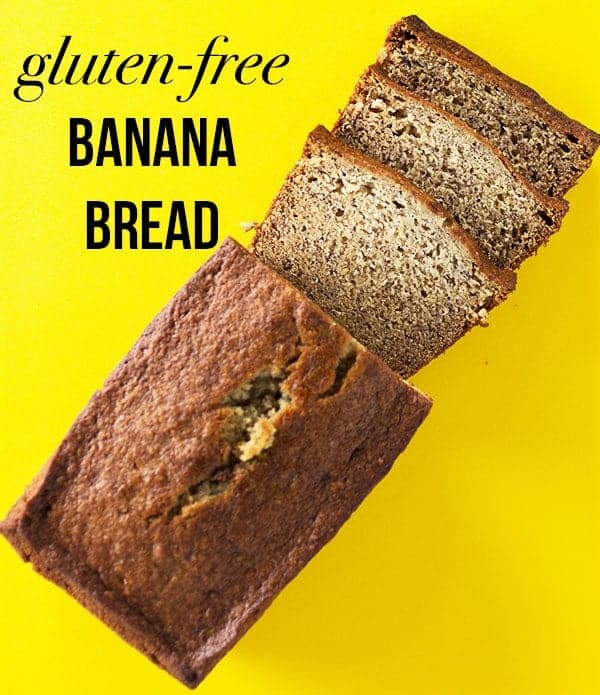 Gluten-Free Banana Bread. Easy Recipe for Moist Banana Bread.