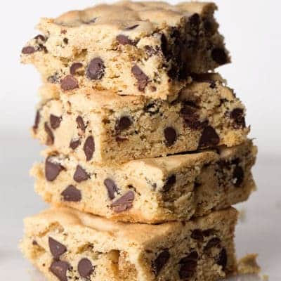 Gluten-Free Chocolate Chip Cookie Bars. These easy bars taste like Toll-House only gluten-free.