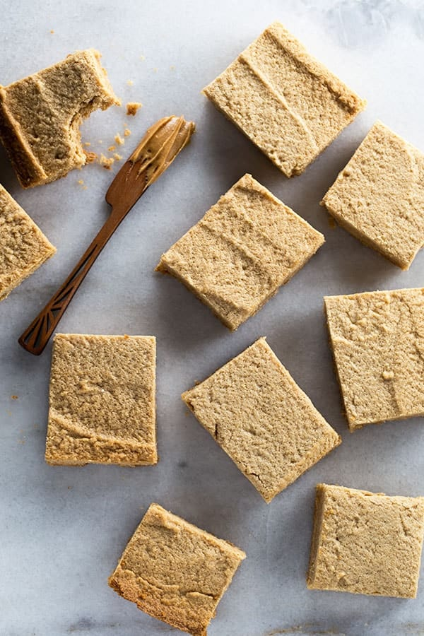 Gluten-Free Peanut Butter Blondies. Easy to make peanut butter cookie bars. Loaded with flavor, these are the best bars for peanut butter lovers.