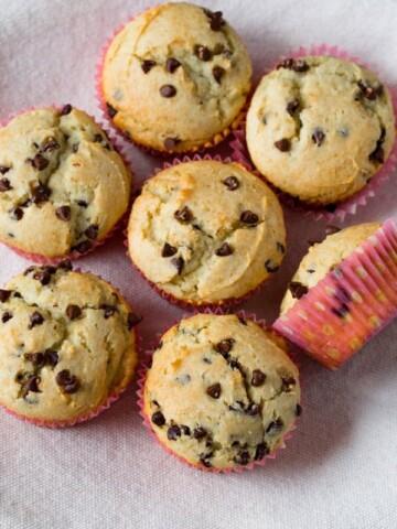 Gluten-free chocolate chip muffins.