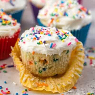 Gluten-Free Funfetti Cupcakes Recipe | Easy