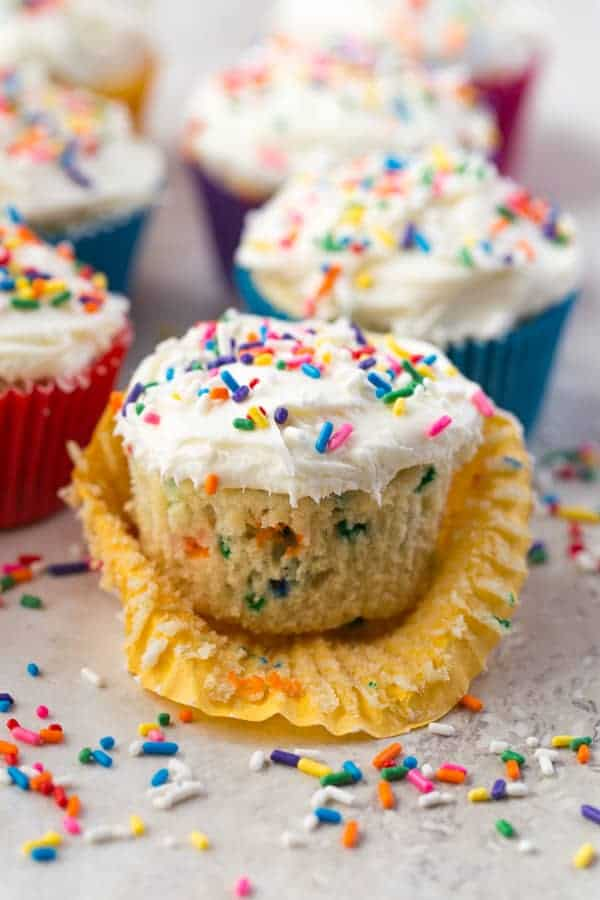 Gluten-free funfetti cupcakes.
