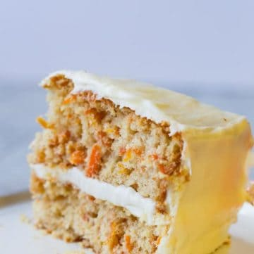 Slice of Gluten-Free Carrot Cake