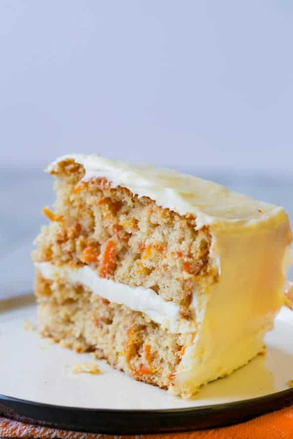 Slice of Gluten-Free Carrot Cake