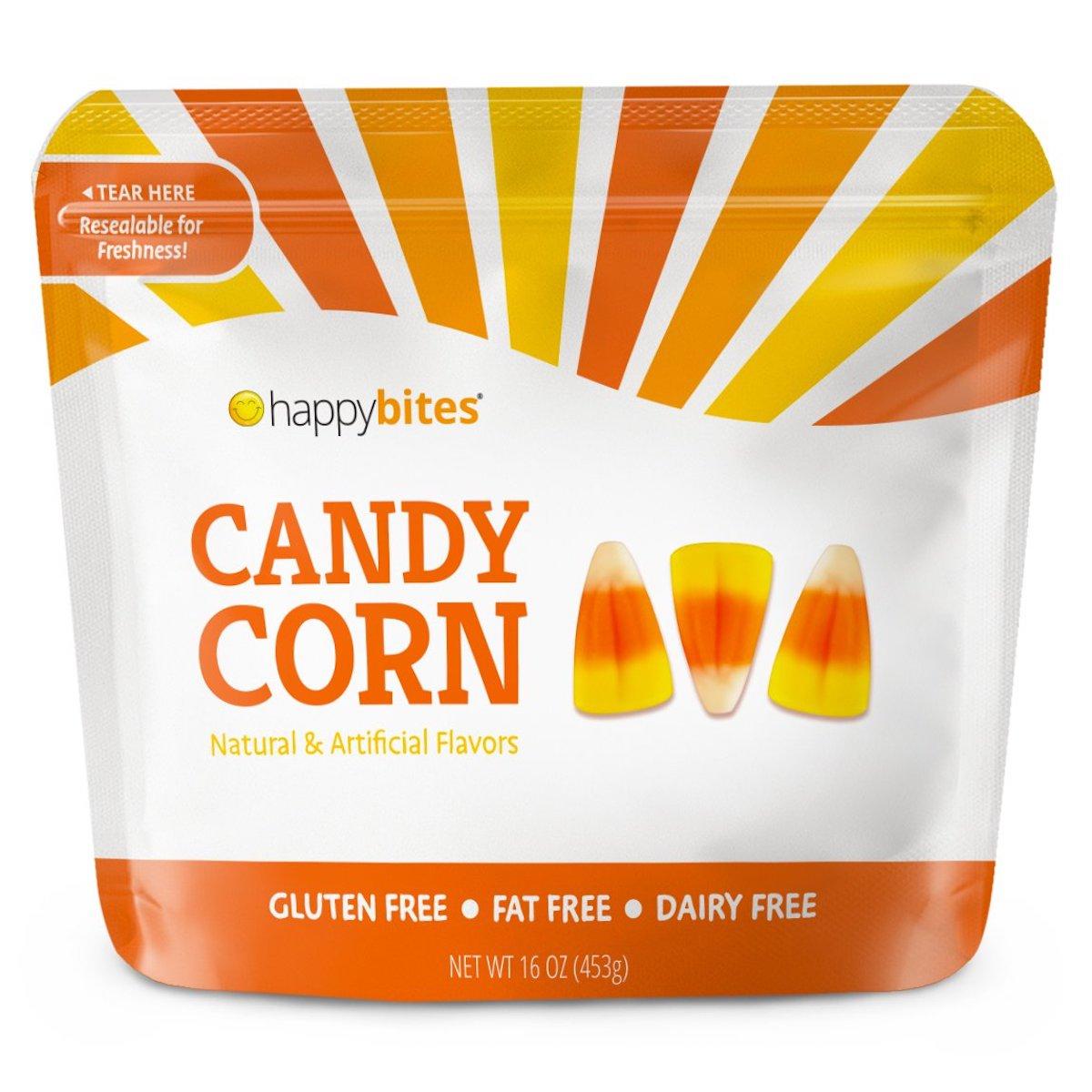 Bag of happy bites candy corn.